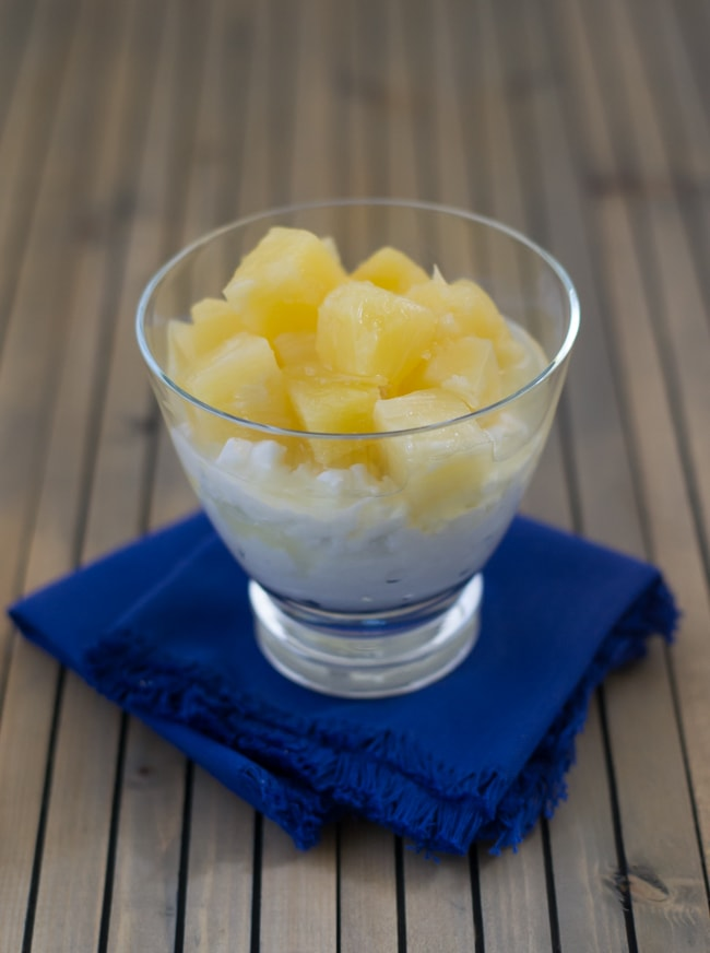 DOLE Pineapple Chunks Cottage Cheese recipe via flouronmyface.com