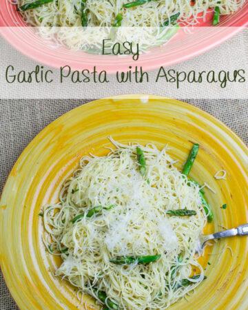 Easy Garlic Pasta with Asapargus recipe via flouronmyface.com