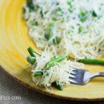 Pasta with Sauteed Asparagus recipe via flouronmyface.com