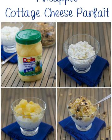 Pineapple Cottage Cheese Parfait via flouronmyface.com