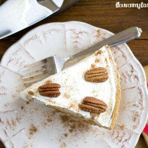 Why make your holiday dinner more complicated than it needs to be. Make this easy No-Bake Pumpkin Pie recipe in just minutes and your Thanksgiving Day dessert is covered. via flouronmyface.com
