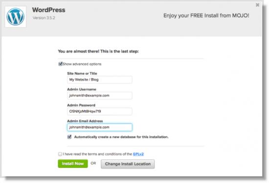 Log into your WordPress site