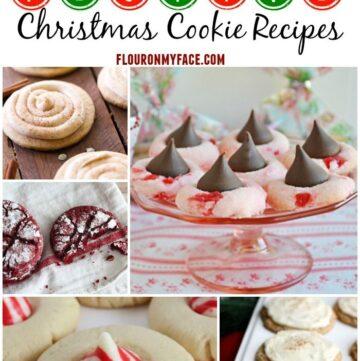 25 Festive Christmas Cookie Recipes perfect for a Christmas Cookie Exchange via flouronmyface.com