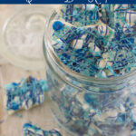 Blue and White Christmas Bark recipe #ChristmasWeek via flouronmyface.com