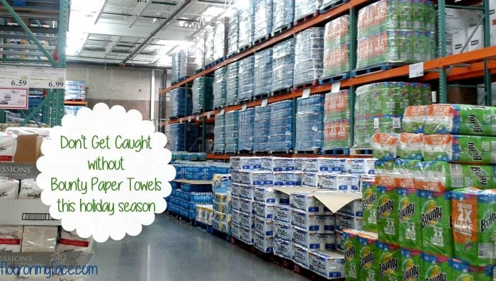 Stock up on Bounty Paper Towels at Costco #HostingHacks #ad via flouronmyface.com