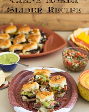 A platter full of Carne Asada Slider recipe