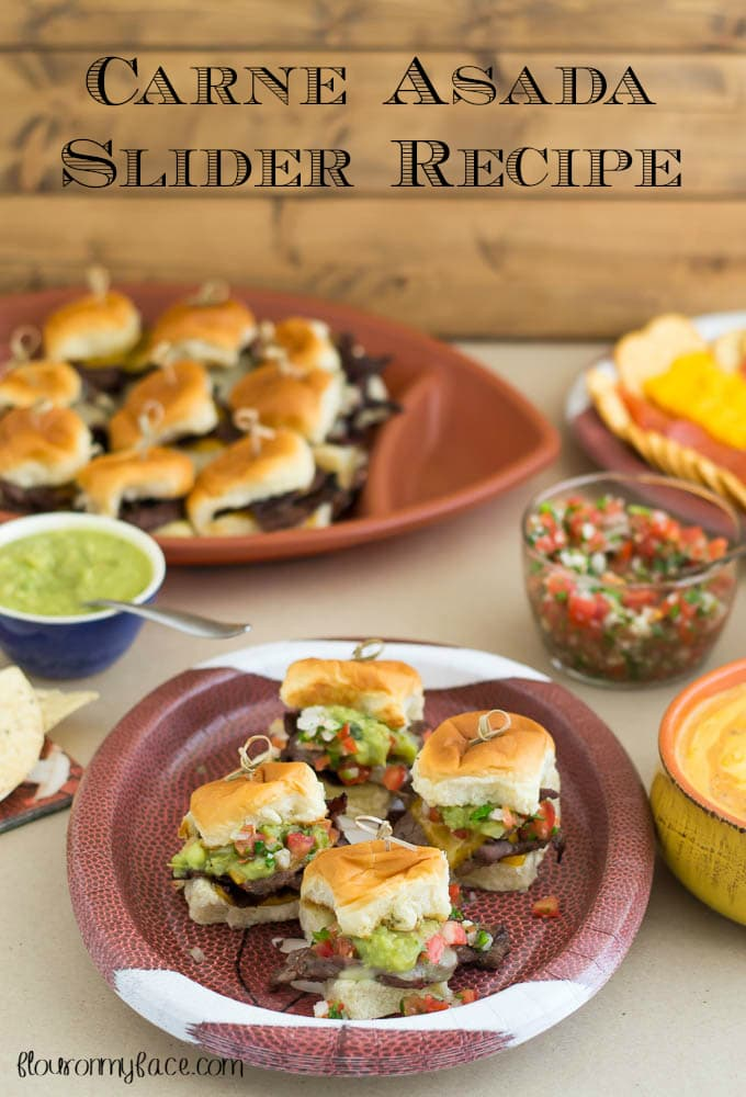 A platter full of Carne Asada Slider recipe