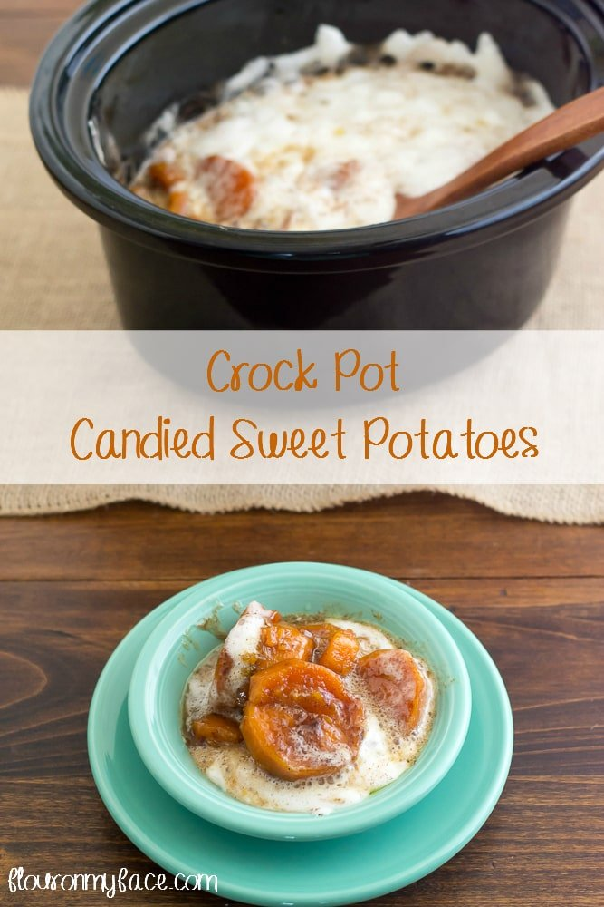 Crock Pot Candied Sweet Potatoes recipe via flouronmyface.com