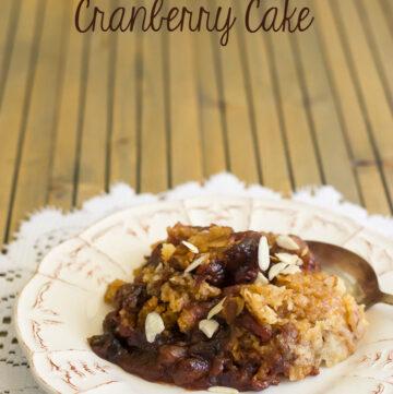 Crock Pot Cranberry Cake recipe via flouronmyface.com