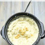 Crock Pot Garlic Mashed Potatoes #CrockPotFriday