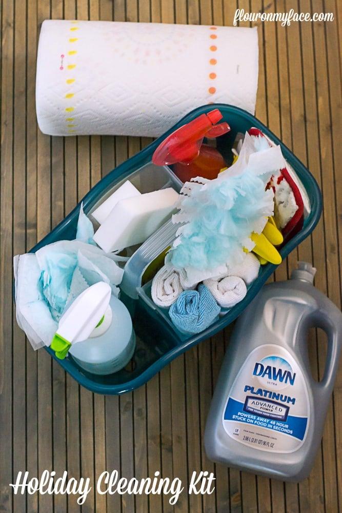 Holiday Cleaning KIt #HostingHacks via flouronmyface.com #ad