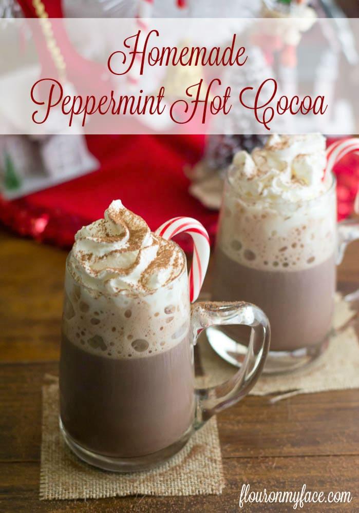 #SweetSwaps Homemade Peppermint Hot Cocoa recipe via flouronmyface.com