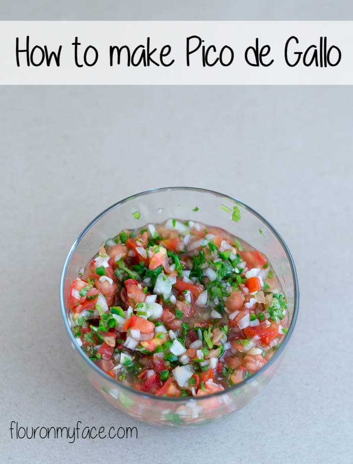 How to make Pico de Galo authentic Mexican Salsa recipe