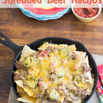 Shredded Beef Nacho Recipe via flouronmyface.com