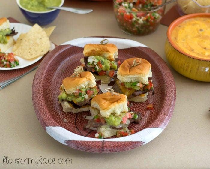 Game Day Steak Slider recipe via flouronmyface.com