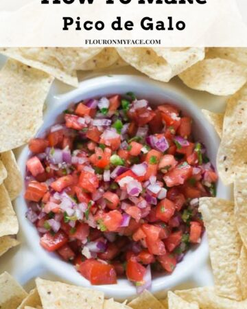 How To Make Pico de Galo an authentic Mexica salsa recipe via flouronmyface.com