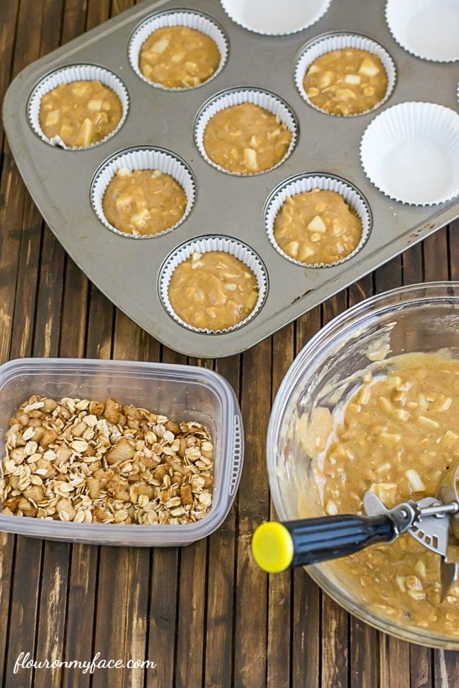 Apple Muffin recipe via flouronmyface.com