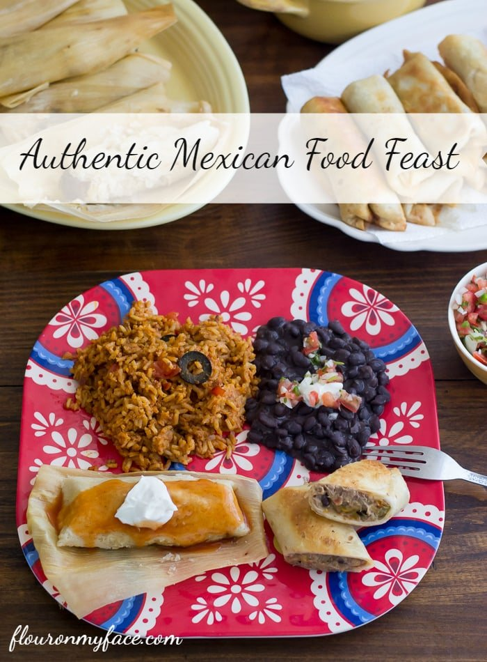 Enjoy an Authentic Mexican Food Feast with these Mexican recipes via flouronmyface.com