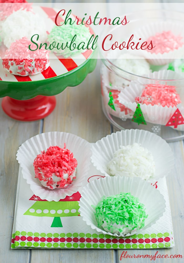 Christmas OREO Snowball Cookies recipe via flouronmyface.com