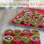 Holiday serving plate with individual servings of Crock Pot Chocolate Cherry Nut Cups