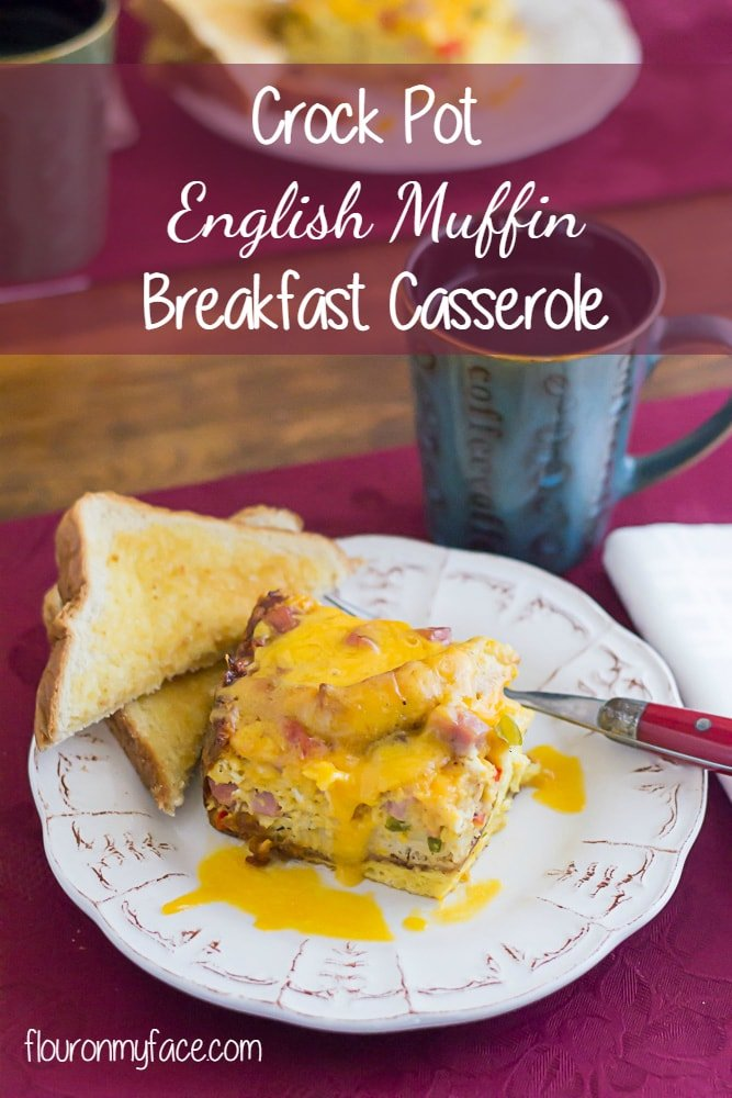 Crock pot english muffin breakfast casserole flour on my face crock pot english muffin breakfast casserole forumfinder Images