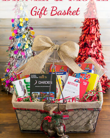 Dinner and Movie Gift Basket via flouronmyface.com