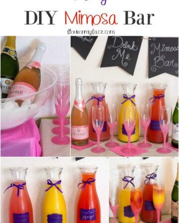 Easy DIY Mimosa Bar via flouronmyface.com