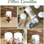 DIY Festive Christmas Candles