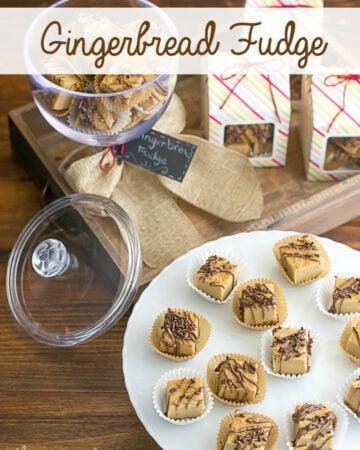 Gingerbread Fudge recipe via flouronmyface.com
