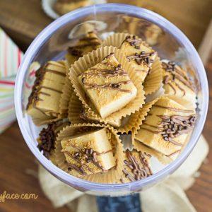 Homemade Gingerbread Fudge recipe via flouronmyface.com