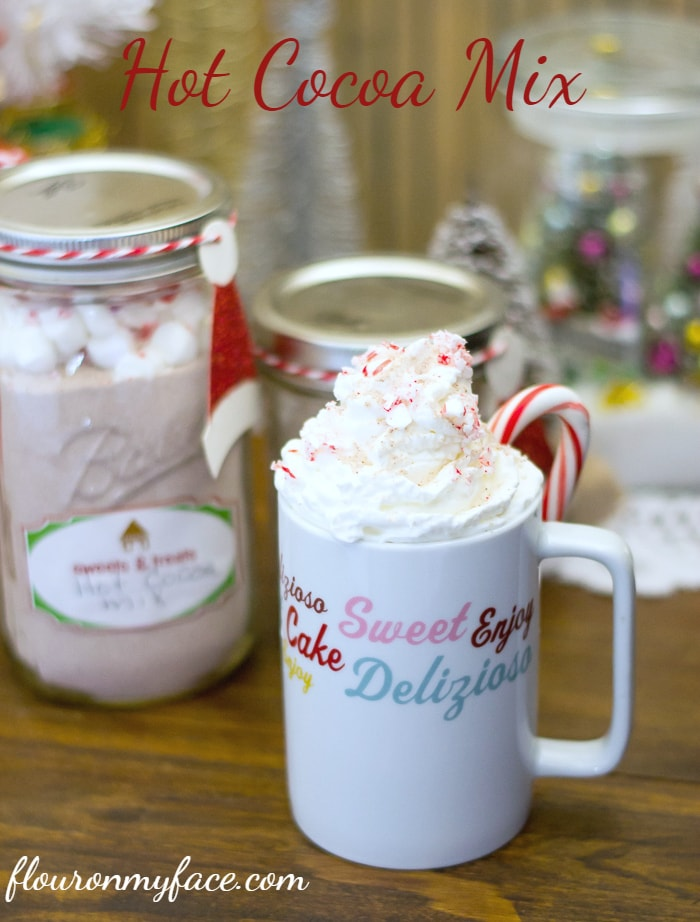 Hot Cocoa Mix recipe is easy and inexpensive homemade Christmas gifts via flouronmyface.com #ChristmasWeek
