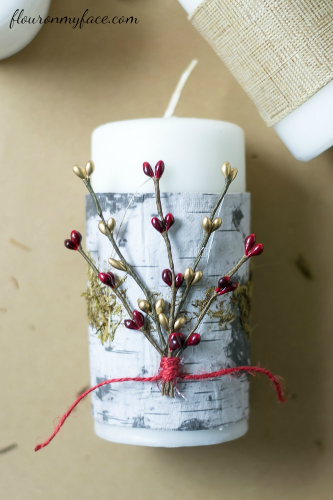 How to decorate Christmas Candles via flouronmyface.com