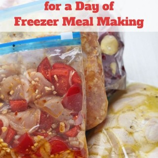 How to Prepare for a Day of Freezer Meal Making via flouronmyface.com