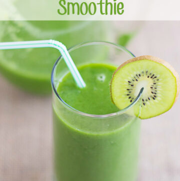 Start the morning off right with a Kiwi Cucumber Smoothie recipe via flouronmyface.com