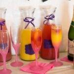 Mimosa Bar set up via flouronmyface.com