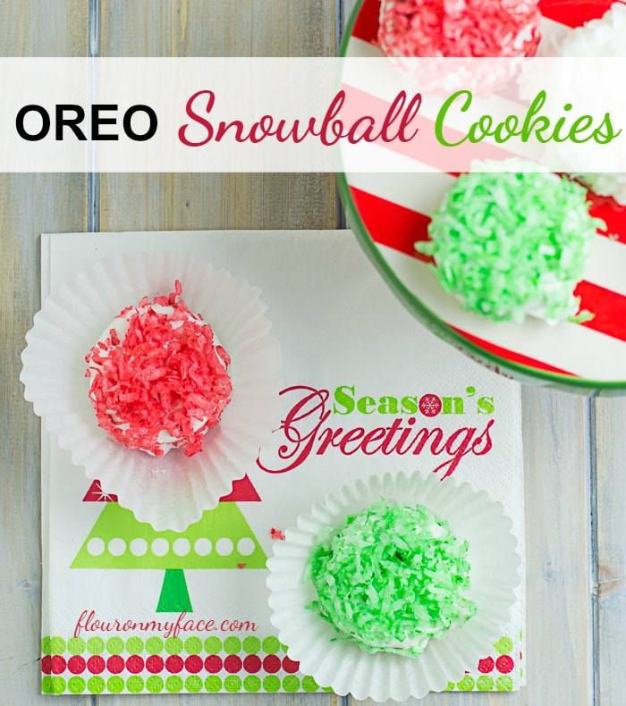OREO Snowball Cookie recipe via flouronmyface.com