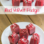 Red Velvet Fudge recipe via flouronmyface.com #shop #SweetenTheSeason