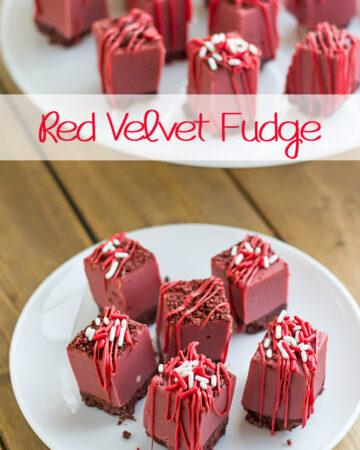 Red Velvet Fudge for Christmas