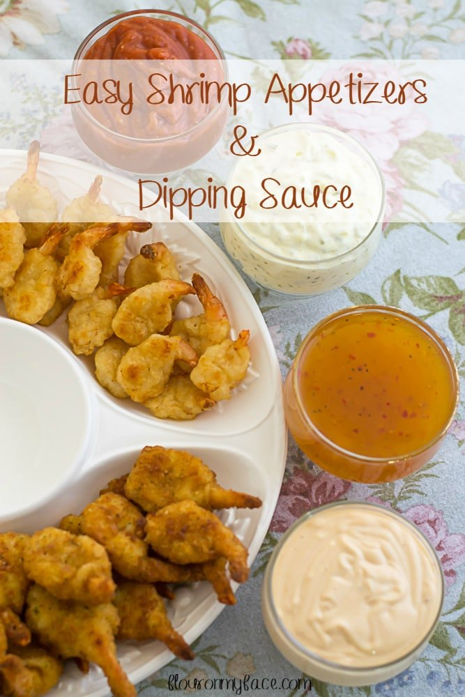 Easy Shrimp Appetizer and Dipping Sauce recipe via flouronmyface.com