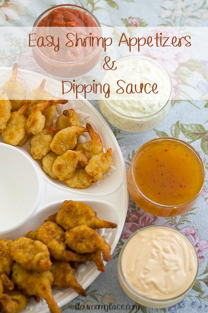 Easy Shrimp Appetizer and Dipping Sauce recipe via flouronmyface.com