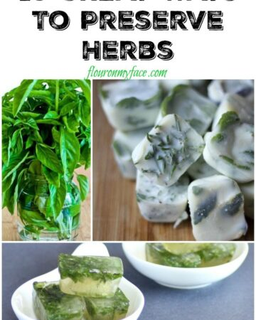 10 Great Ways to preserve fresh herbs via flouronmyface.com