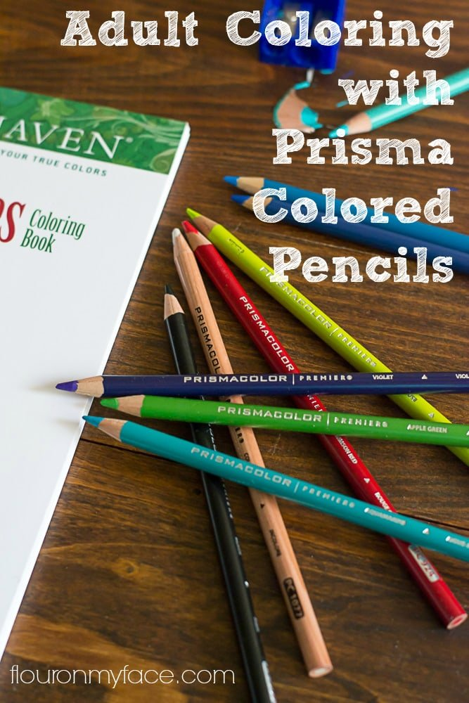Adult Coloring with Prisma Colored Pencils and blending via flouronmyface.com