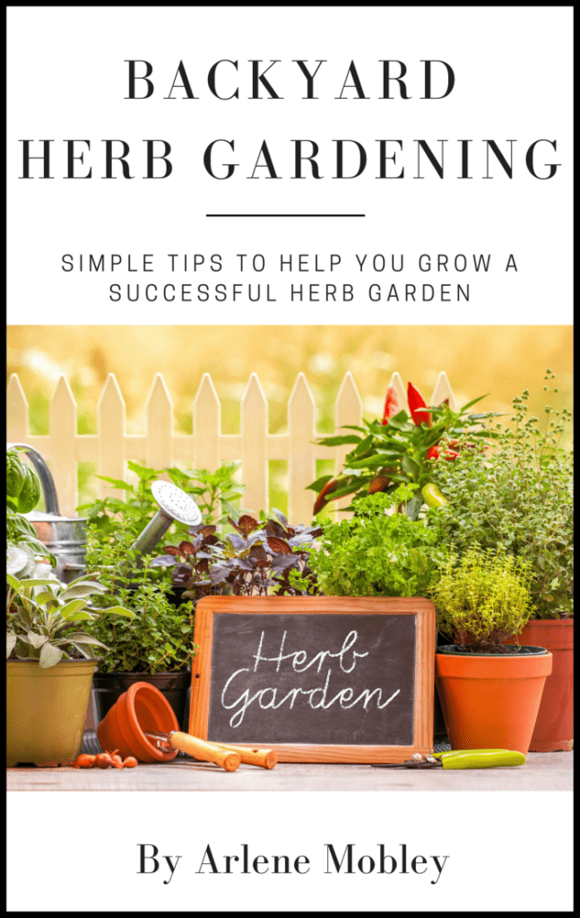 Backyard Herb Gardening eBook Cover via flouronmyface.com