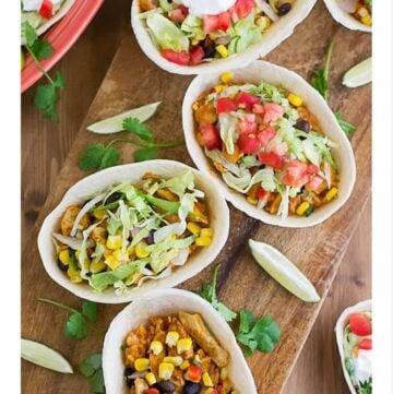 Chicken Fiesta Bowl Appetizer recipe via flouronmyface.com