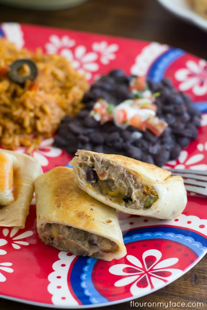 Homemade Chimichanga recipe via flouronmyface.com