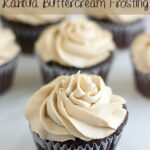 Chocolate Cupcakes with Kahlua Buttercream Frosting #SundaySupper