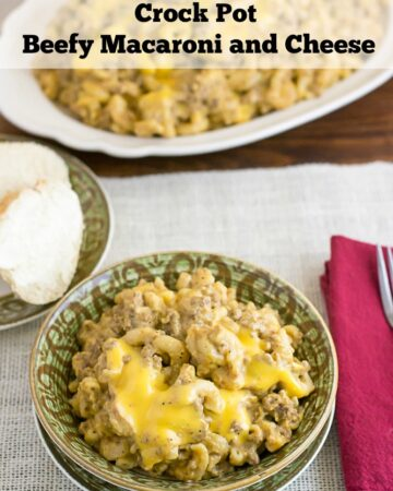 Crock Pot Beefy Macaroni and Cheese recipe tastes just like Cheeseburger Macaroni