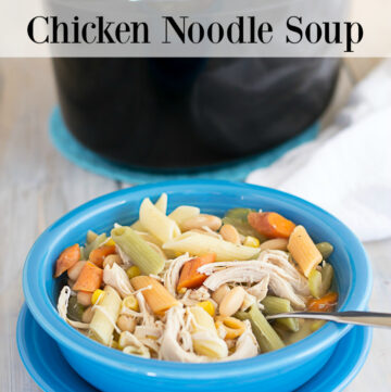 Crock Pot Chicken Noodle Soup recipe via flouronmyface.com