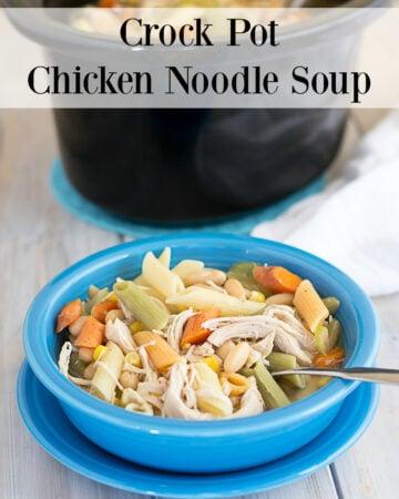 Crock Pot Chicken Noodle Soup recipe via flouronmyface.com