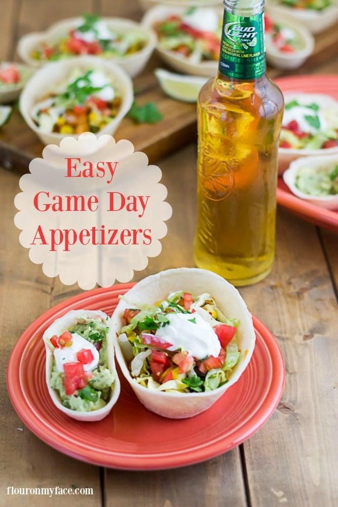 Easy Game Day Appetizers via flouronmyface.com
